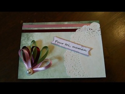 DIY Carte Fête des mères n°14-2016.DIY Mother's day card n°14-2016
