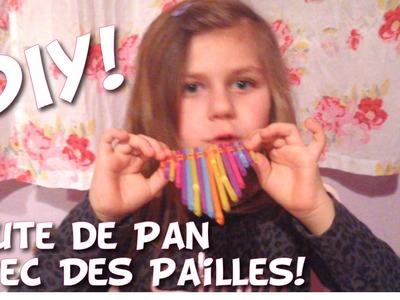 DIY: Flute de Pan avec des pailles