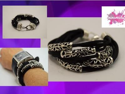 DIY. Comment faire un bracelet avec des perles tube. How to make a bracelet with Pearl tube.
