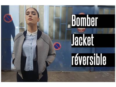 DIY: COUDRE UN BOMBER(S) RÉVERSIBLE EN NÉOPRÈNE. SEW A NEOPRENE REVERSIBLE BOMBER JACKET