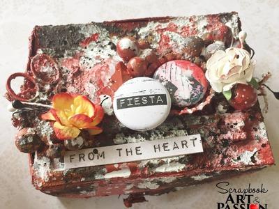 Petite boite pour Scrapbook Art et Passion