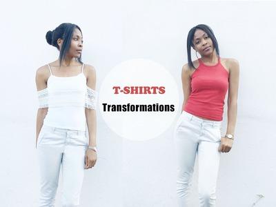 DIY T-shirts and Tank top Transformations.  DIY Transformations de T-Shirts et débardeur
