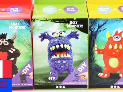 "Achats de monstres | Trois ""Ugly Monsters"" en Foam Clay | Kits DIY super cool avec Foam & Silk Clay"