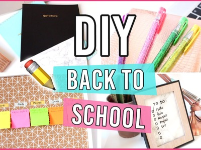 DIY BACK TO SCHOOL 2016 ✏️ Customisez vos fournitures scolaires !
