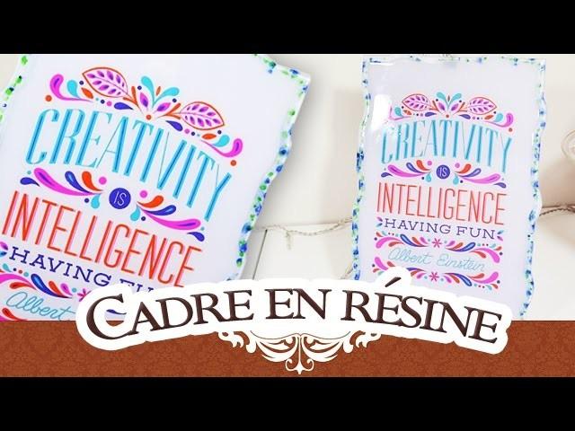 DIY d'atelier #4: Cadre en résine Cléopâtre - RENSIN'PAD: Creativity is intelligence having fun
