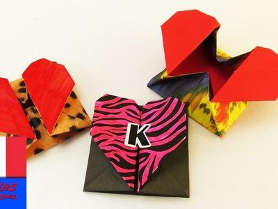 DIY Origami Box avec une fermeture en coeur | Idée cadeau super chouette | Rangement & Enveloppe
