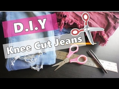 DIY | Knee cut jeans tutorial ♡