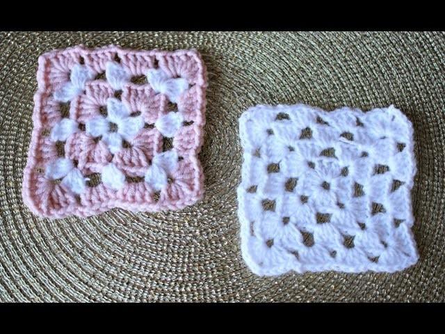 tuto crochet granny square facile pour d butant crochet 8. Black Bedroom Furniture Sets. Home Design Ideas