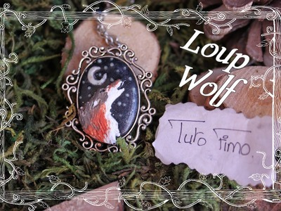[♥✿ Tuto Fimo : Loup dans un support camé ✿♥] ~ [♥✿ Polymer Clay Tutorial : Wolf in cameo ✿♥]