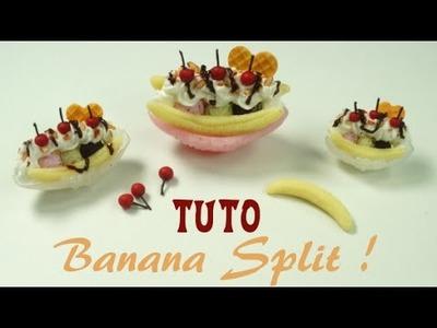 Tuto Glace Banana Split Miniature - Polymer clay - Fimo.Cernit