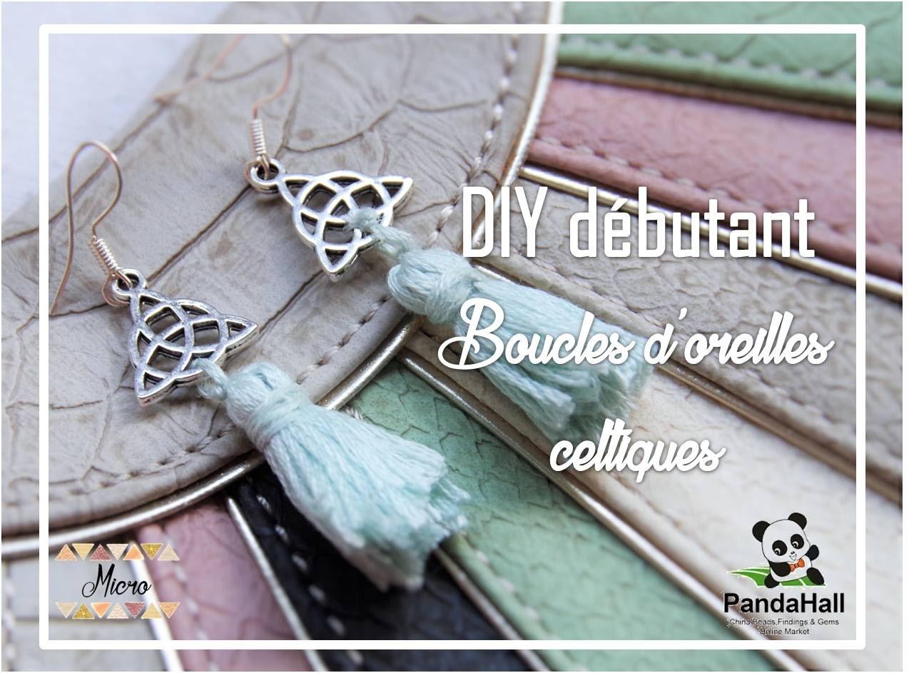 DIY débutant bijou : boucles d'oreille celtes à pompon