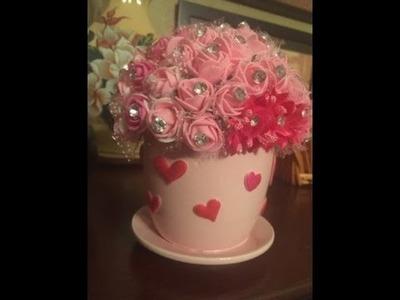 Manualidades Con Yvonne , Taza Con Flores