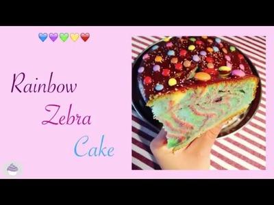 ⭐️RECETTE RAINBOW ZEBRA CAKE ⭐️ MA GOURMANDISE