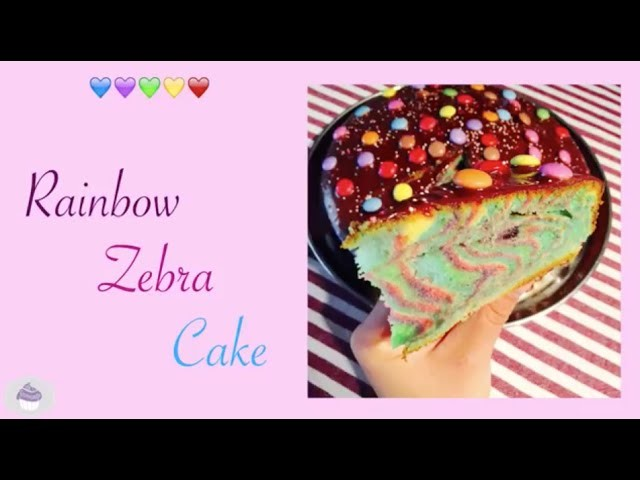 recette rainbow zebra cake ma gourmandise. Black Bedroom Furniture Sets. Home Design Ideas