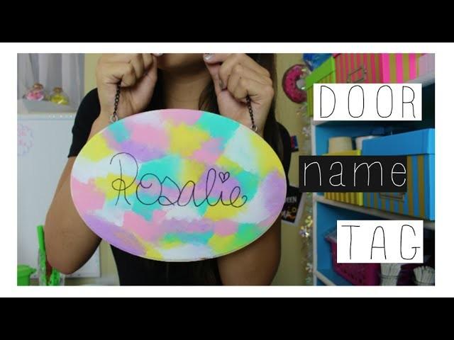 DIY door name tag  Français 