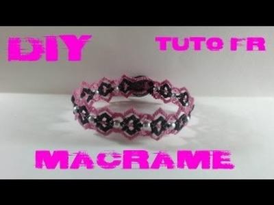 DIY - Tuto FR. Bracelet double pics en macramé