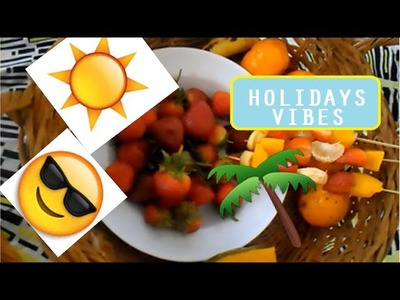Diy Holidays ♥ Boisson Starbuck| Brochettes de fruits.  + Choker necklace