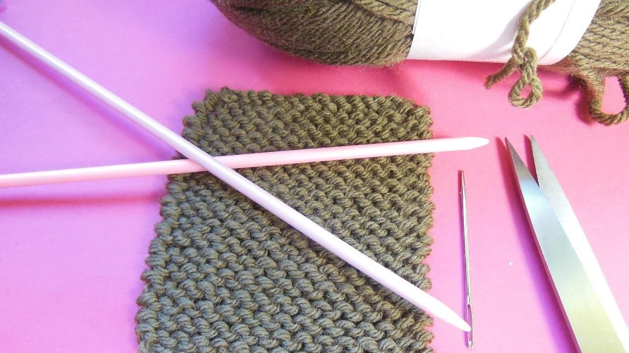 tricot point mousse maille endroit et arr t des mailles. Black Bedroom Furniture Sets. Home Design Ideas