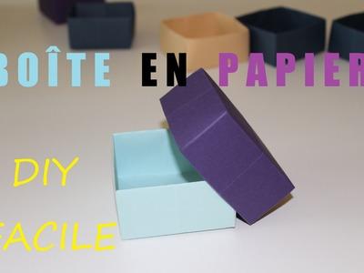 Comment faire une boîte en papier - DIY Origami facile