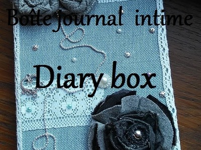 DIY Boîte pour journal intime (recyclage). DIY Diary box (recycling)