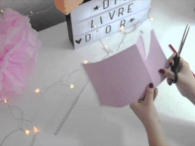 DIY mariage. Livre d'or. petit carnet.souvenirs