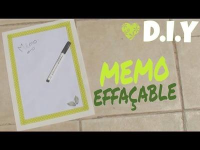 DIY #3 - MEMO (velleda.whiteboard)