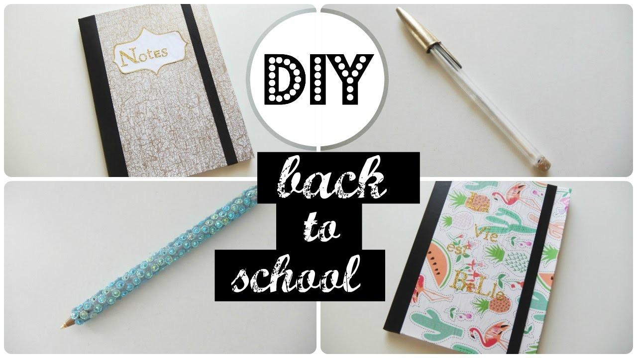 DIY : Back to school. notebooks (français)