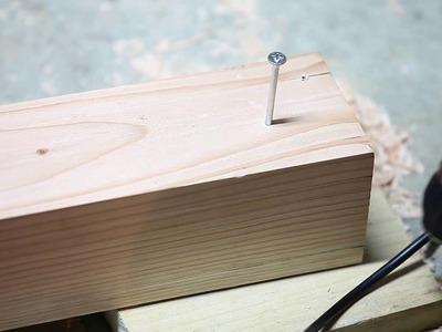 Tuto : Une table de jardin en douglas massif DIY - Part 1 :  Perçage et assemblage des pieds
