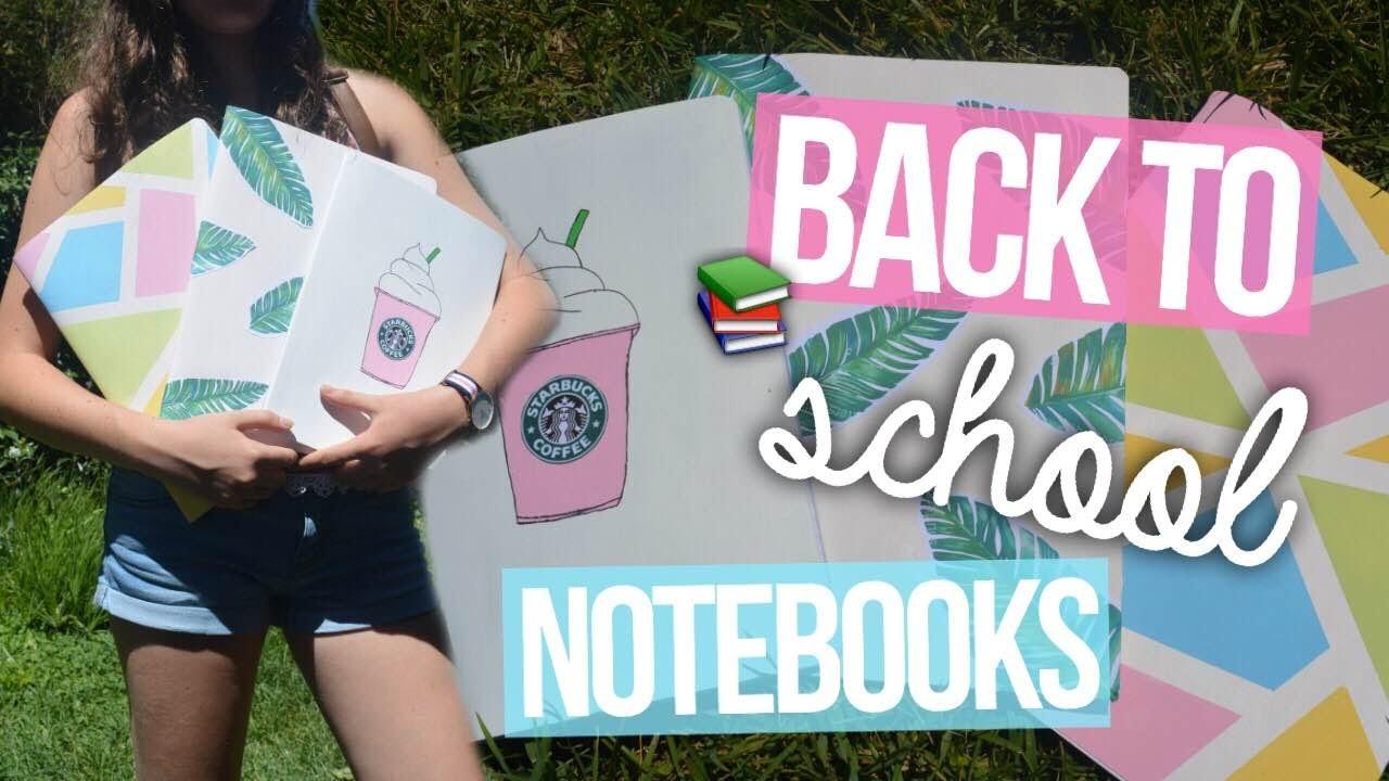 Tumblr Notebooks DIY | BACK TO SCHOOL