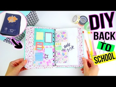 DIY BACK TO SCHOOL 2016┋PERSONNALISE TON AGENDA. PLANNER (Recyclage,Tuto fournitures) diy francais
