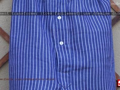 DIY: Comment transformer (très facilement) une chemise d'homme en jupe pour madame