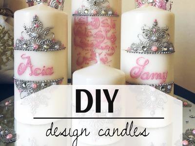 DIY design candles tutorial
