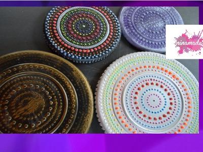 DIY. Dessous de plat Mandala. Trivet Mandala.