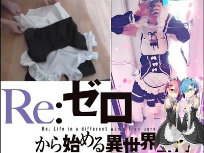DIY make the cosplay of Rem. Ram RE:ZERO Tutorial