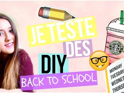 JE TESTE DES DIY BACK TO SCHOOL (Starbucks, emojis. )
