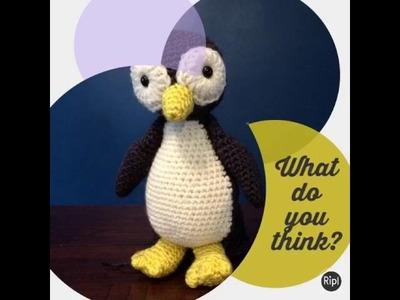Crochet toy penguin complete
