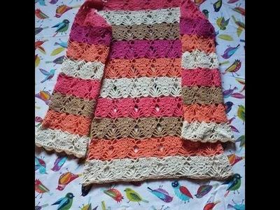 Tùnica a crochet tutorial parte 2 de 3