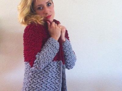 Tuto crochet:Magnifique cardigan veste manteau femme crochet facile 1.3