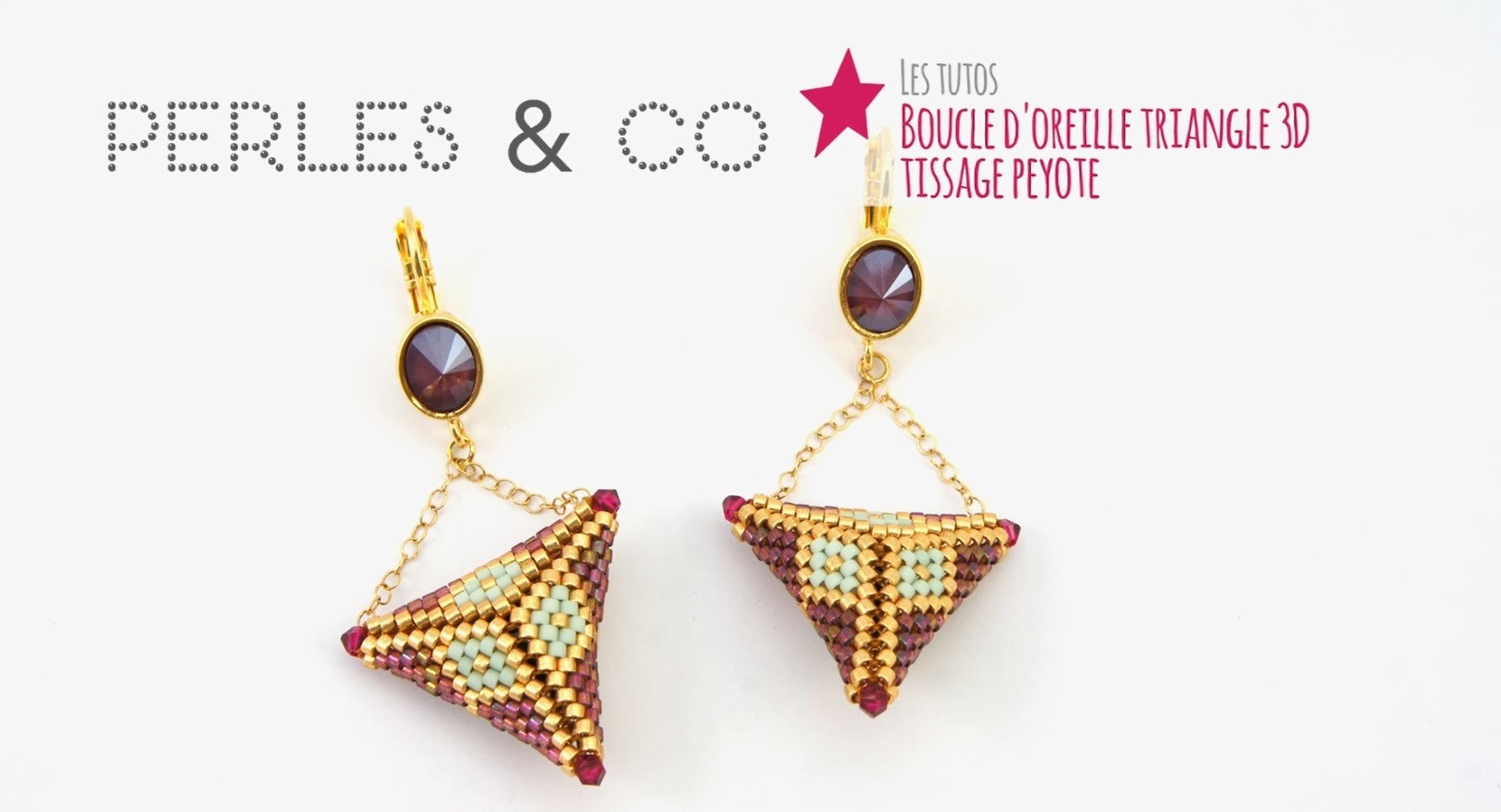 tuto diy cr er des boucles doreilles triangles 3d en tissage peyote avec des miyuki et swarovski. Black Bedroom Furniture Sets. Home Design Ideas
