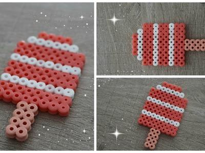 DIY :  Glace.Esquimau en Perles Hama. Ice cream Perler beads