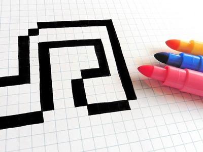 Handmade Pixel Art - How To Draw Music #pixelart