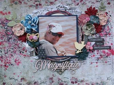 """""""Magnifique"""" Moodboard de sept 2016 chez Scrapbook art & passion"""