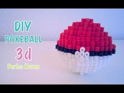 DIY Pokeball 3d Perles à repasser Hama