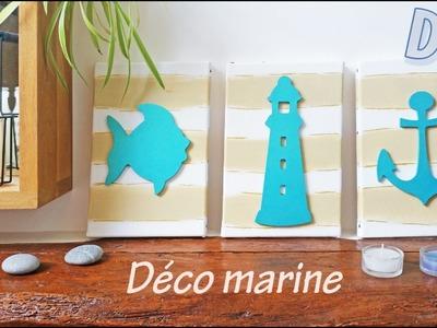 DIY- tuto pour faire une deco marine dans une salle de bains ! bord de mer ♥