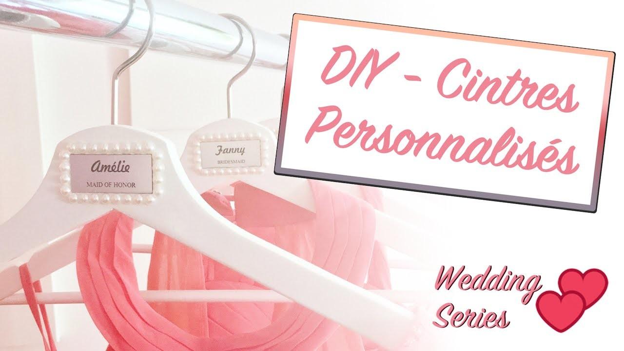DIY - Cintres personnalisés pour demoiselles d'honneur | Tutoriel mariage