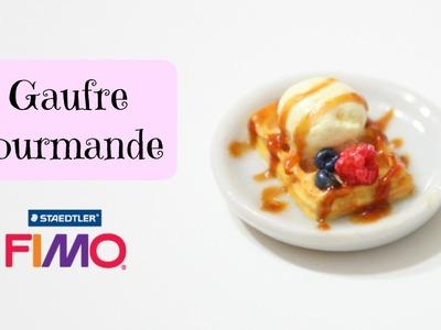 TUTO Gaufre gourmande miniature en fimo. waffle polymer clay