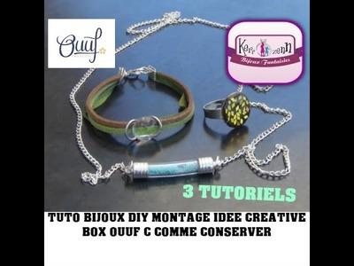 TUTO BIJOUX DIY  REALISEZ 3 BIJOUX FACILE AVEC LA OUUF BOX C COMME CONSERVER IDEE CREATIVE