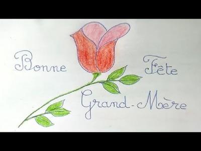 Bonne fête Grand Maman : Bricolage DIY d'une carte à offrir