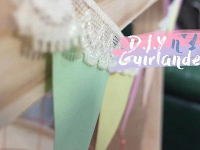 ☼ D.I.Y n°1 ☼ Guirlande fanion & pot de fleur  ♡