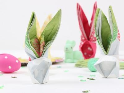DIY pliage de lapin pour Pâques